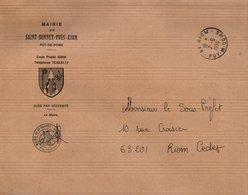 LETTRE DE MAIRIE DE SAINT-BONNET-PRES-RIOM PUY DE DOME - 1961-....