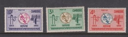 Cambodia SG 185-187 1965 Centenary Of I.T.U. ,mint Never Hinged - Cambodia