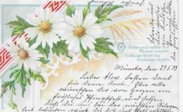 AK 0116  Margeriten Mit Liebes-Vers  - Gruss-Karte Um 1903 - Blumen