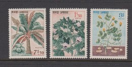 Cambodia SG 188-190 1965 Industrial Plants  ,mint Never Hinged - Cambodia