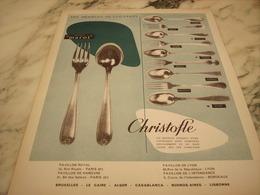 ANCIENNE PUBLICITE ORFEVRERIE CHRISTOFLE 1952 - Autres