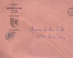 LETTRE DE MAIRIE DE VILLENUVE-LES-CERFS PUY DE DOME - Marcophilie (Lettres)