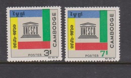 Cambodia SG 202-203 1966 20th Anniversary Of UNESCO ,mint Never Hinged - Cambodge