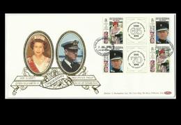 South Georgia Isl. 91 FDC, 65th & 70th Birthdays Of QE II & Prince Philip, RARE - Géorgie Du Sud
