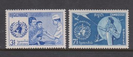 Cambodia SG 230-231 1968 20th Anniversary Of W.H.O. ,mint Never Hinged - Cambodja