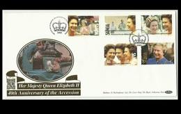 Samoa 1992 FDC, 40th Anniversary Of Accession Of H.M QE II, RARE - Samoa