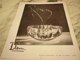 ANCIENNE PUBLICITE CENDRIER  CRISTAL DE DAUM 1951 - Autres