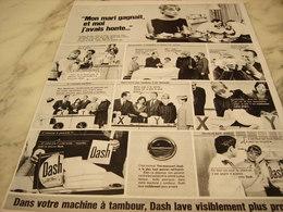 ANCIENNE PUBLICITE POUR MACHINE A LAVER DASH  1967 - Advertising