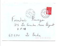 OBLITERATION  DE MOLLES ALLIER 1998 - Marcophilie (Lettres)