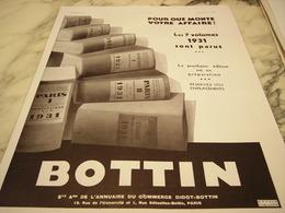 ANCIENNE PUBLICITE 7 VOLUMES  ANNUAIRE BOTTIN 1931 - Advertising