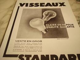 ANCIENNE PUBLICITE LAMPE DEPOLIE OU CLAIR VISSEAUX  1931 - Publicité