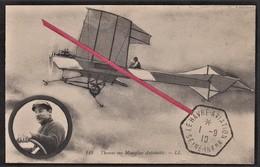 76 LE HAVRE - Aviateur Thomas Sur Monoplan Antoinette _ Cachet Le Havre - Aviation 1 Septembre 1910 _ Tampon _ Avion - Avions
