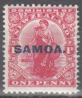 SAMOA  SCOTT NO. 115     MINT HINGED    YEAR  1914 - Samoa