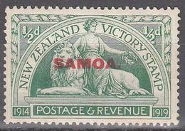 SAMOA  SCOTT NO. 136     MINT HINGED    YEAR  1920 - Samoa