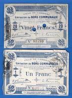 Cambrai  20  Fr  Du  30/11/1914  59/452  Pirot R2   +  1  Billets - Bons & Nécessité