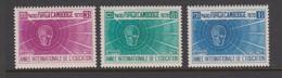 Cambodia SG 279-281 1970 International Education Year ,mint Never Hinged - Cambodge
