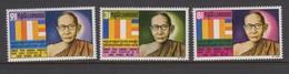 Cambodia SG 282-284 1971 2nd Anniversary Death Of Samdech ,mint Never Hinged - Cambodia