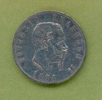 Italie : VICTOR EMMANUEL II - 5 LIRES 1874 Milano - 1861-1946 : Royaume