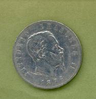 Italie : VICTOR EMMANUEL II - 5 LIRES 1876 Milano - 1861-1946 : Royaume