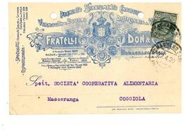 ROMAGNANO SESIA CARTOLINA COMMERCIALE STABILIMENTO ENOLOGICO VINO - Novara
