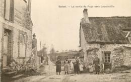 28 GARNET La Sortie Du Pays Vers Levainville CPA Sépia Ed. Guyot / Cliché Venot - Altri Comuni