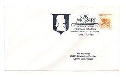 USA OBLITERATION MUSIQUE OK MOZART à BARTLESVILLE OKLAHOMA 1989 - Poststempel