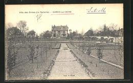 CPA Samois-sur-Seine, Villa Des Ormes, Le Parterre - Samois