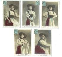 Série De 5 Cartes Thème Alsace éditeur CM PARIS - Women