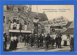 53 MAYENNE - ARGENTRE Fête De Jeanne D'Arc 1909, L'Aéroplane - Argentre