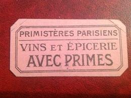 Paris Primisteres Parisiens Vin épicerie Bon - Autres Collections