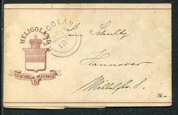 Helgoland / 1876 / Streifband Mi. S 2 O (4/172) - Héligoland