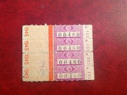 Ticket Transport ? Réseau Routier 1945 - Transportation Tickets