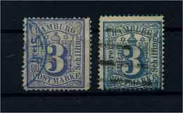 HAMBURG 1864 Nr 15a+b Gestempelt (110677) - Hamburg