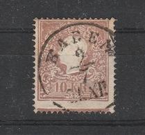 Mi. Nr. 14 II, Andreaskreuz-Ansatz Unten, Gestempelt BADEN - 1850-1918 Imperium