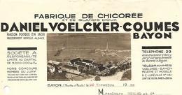 Facture & Traite 1938 / 54 BAYON / VOELCKER-COUMES / Fabrique De Chicorée / BENFELD 67 / Kermesse Martigny 88 - Francia