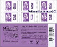 "France 2019 Carnet Marianne L'engagée "" Une Marianne Pour L'International  "" - MHN Neuf - Usage Courant"