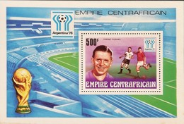 Central African Republic 1977 World Soccer Championship , Argentina S/S - Central African Republic