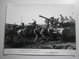 Camp Du Larzac, Manoeuvres Franco-britannique. Tank / Tankistes. Lot De 4 Photos 240 X 183 Mm - Véhicules