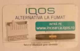 ROMANIA-CIGARETTES  CARD,NOT GOOD SHAPE-0.80 X 0.47 CM - Tabac (objets Liés)
