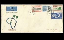 Nigeria 1960, Independence Day Celebration, Unaddressed FDC - Nigeria (1961-...)