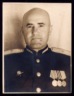 RUSSIA USSR ORIGINAL MILITARY PHOTO MAJOR ORDERS: RED STAR MEDALS - Documents