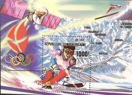Central African Republic 1990 Winter Olympics,Albertville  S/S - Central African Republic