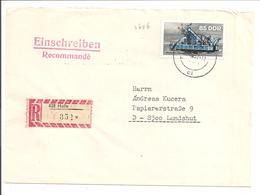 Mi 2656 EF Einschreiben Halle>Landshut.TAUSCHKONTROLLE - Covers
