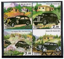 Tajikistan.2015 Old Cars. Block Of 4v: 2.oo, 2.oo, 3.oo, 3.oo Michel # 702-705 - Tayikistán