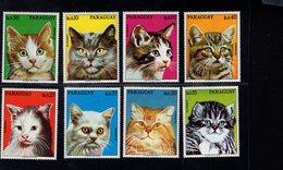 693234442 PARAGUAY 1976 POSTFRIS MINT NEVER HINGED POSTFRISCH EINWANDFREI SCOTT 1635A 1635H VARIOUS CATS - Paraguay