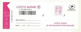 BLOC AVEC ADHESIF MARIANNE DE CIAPPA KAWENA POUR  LETTRE SUIVIE  20 GR - 2013-... Marianne De Ciappa-Kawena