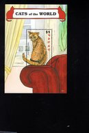 693239152 PALAU 2009 POSTFRIS MINT NEVER HINGED POSTFRISCH EINWANDFREI SCOTT 971 VARIOUS CATS RED SILVER TABBY - Palau