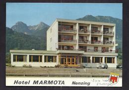 CPSM AUTRICHE - NENZING - HOTEL MARMOTA - Familie Amann - TB PLAN Façade De L'Etablissement - Nenzing