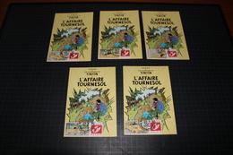 TINTIN - Hergé - Carte Postale + 5 Timbres Différents -Emission 1 - DUOSTAMPS  - TINTIN - L'Affaire Tournesol - !!RARE!! - België