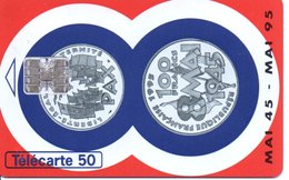Télécarte France 100 Francs - Mai 1945/95 - Bank Banque  Phonecard  (G 705) - Timbres & Monnaies